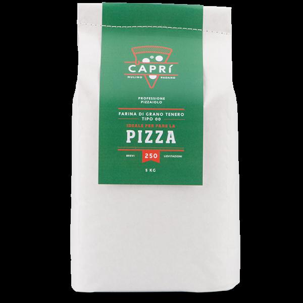 5kg Capri 250 farina per pizza brevi lievitazioni